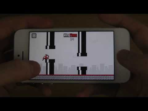 Flappy Devil IPhone 5S IOS 7 HD Gameplay Trailer - Smashpipe Science