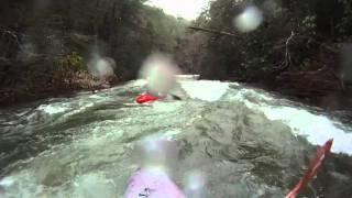 Wild river paddling