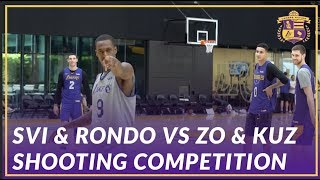 Lakers Practice: Zo & Kuz, Rondo & Svi, and Coach Miles & Bshaw Shooting Competition After Practice