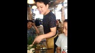 Lâm Vỹ Dạ ghé quán ăn Mười Khó của Trường Giang