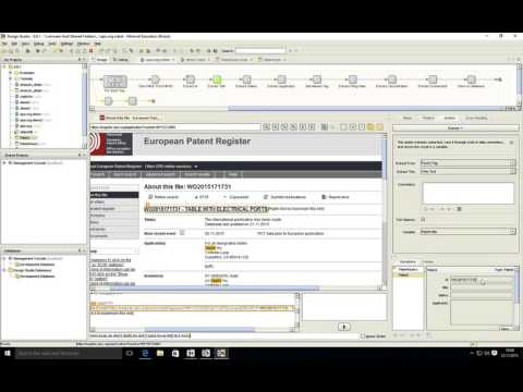 Kofax Kapow:  demo about intellectual properties web data extration