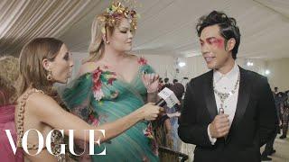 Eugene Lee Yang & Nikkie de Jager on Eugene's Last Minute Look | Met Gala 2021 w/ Emma Chamberlain