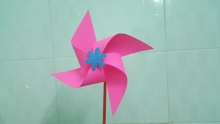 How to make pinwheel from paper | Paper craft tutorial | DIY