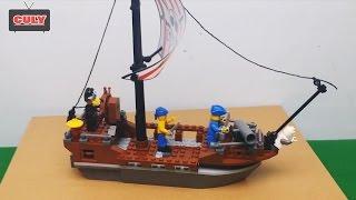Bóc đồ chơi Lego thuyền hải tặc cướp biển Caribbean pirate boat toy for kid   đồ chơi trẻ em