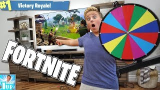 SPIN-THE-WHEEL CHALLENGE in Fortnite: Battle Royale!