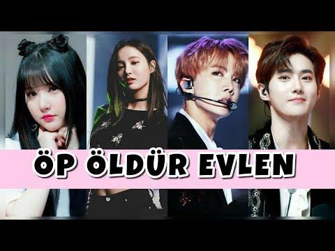 K-POP İDOLLERİYLE ÖP ÖLDÜR EVLEN OYUNU!
