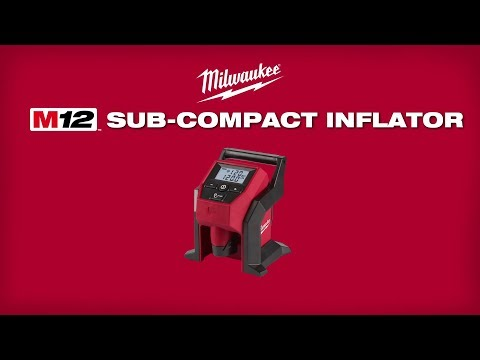 Milwaukee M12BI-0 12v Cordless Compact Inflator Body Only