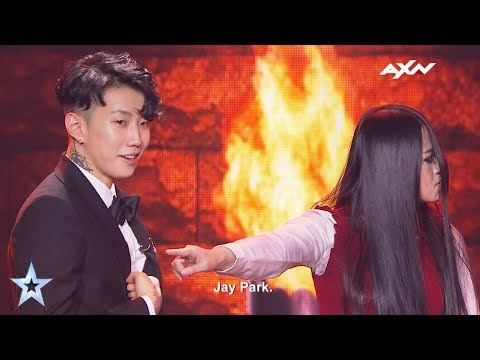 The Sacred Riana Spooked Jay Park - Results Show   Asia's Got Talent 2017