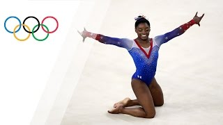 Biles wins gold in Floor Final