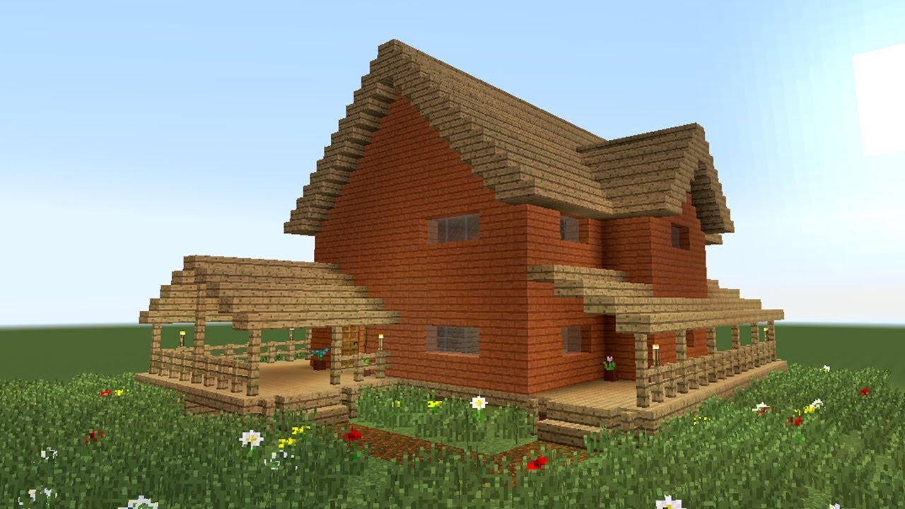 MINECRAFT: How to build big wooden house #2 - YouTube Minecraft Mansion Ideas Of How To Build