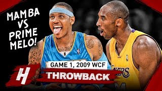 The Game That Kobe Bryant Faced PRIME Carmelo Anthony! Game 1 Duel Highlights 2009 WCF - EPIC!