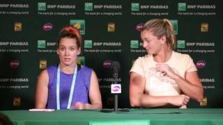 2016: WTA Doubles Champions Press Conference