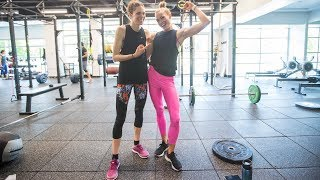 BTC's full gym/core session with Gwen and Colleen