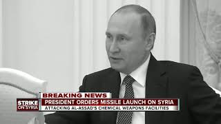 President orders missile launch on Syria