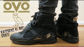 "(LAST OVO *RIP* ✔️x🦉) JORDAN 8 ""OVO"" BLACK 8 REVIEW & ON FEET"