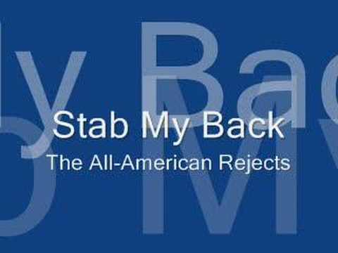 Stab My Back - The All-American Rejects