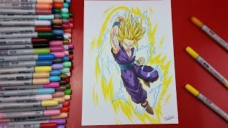 Drawing Teen GOHAN Super Saiyan 2 | TolgArt