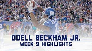 Odell Beckham Jr. Snags 2 TDs   Eagles vs. Giants   NFL Week 9 Player Highlights