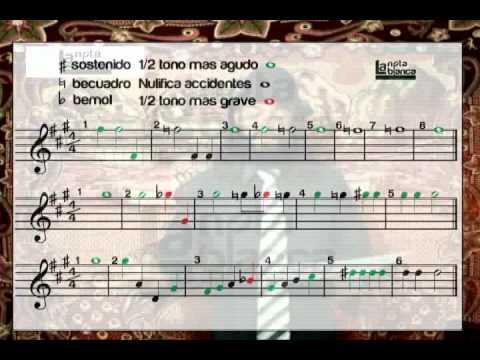 La nota blanca - Leer partitura (2 de 2)