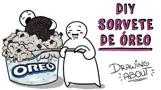 Como fazer sorvete de Oreo 🍨 Receita de sorvete caseiro | Draw My Life Português