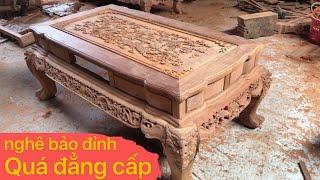 🔴 NGHÊ BẢO ĐỈNH giá tại xưởng| đồ gỗ mỹ nghệ đồng kỵ|woodworking art|wood