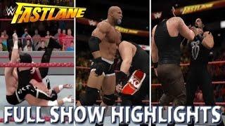 WWE 2K17 RECREATION: FASTLANE 2017 FULL SHOW HIGHLIGHTS