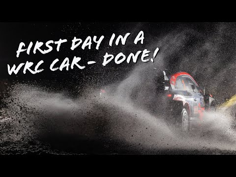 First day in a WRC car - done!