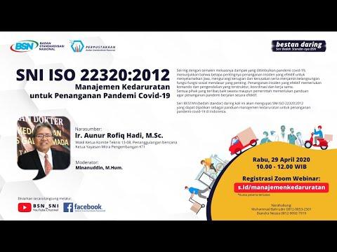 https://www.youtube.com/watch?v=MFVTXZfdr9I&t=7sBedah Standar Daring : SNI ISO 22320:2012