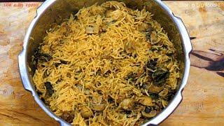 My Cooking My Style -Mushroom Biryani.!