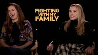 """CHAT WITH THE STARS:  Florence Pugh, Lena Heady, """"Fighting With My Family"""""""