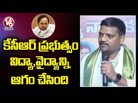 No minister in KCR Cabinet is educated, alleges Teenmaar Mallanna