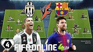FIFA ONLINE 4 | Ronaldo So Tài Messi Trong ĐẠI CHIẾN JUVETNUS VS BARCELONA | Tứ Kết Giải Đấu ILFCL