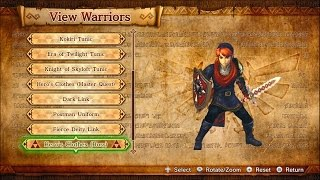 Hyrule Warriors - Outfits & Weapons (Includes Legends characters) - Wii U