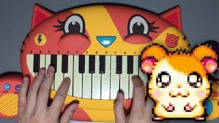 THE HAMPSTERDANCE SONG ON CAT PIANO