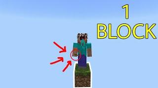 Thử Thách Sinh Tồn Chỉ Với 1 Block !!! - Skeleton Cực Hiếm !!! | Minecraft PE