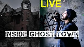This Guy Spent Halloween Night LIVE STREAMING Inside a Real-Life GHOST TOWN and It's GRUESOME