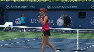 Highlights: WTA R2 - Radwanska d. Mertens