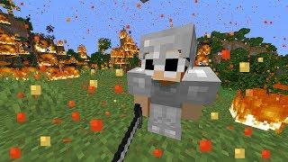Beating Minecraft, But It Rains Lava...