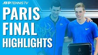 Djokovic Beats Shapovalov To Win Fifth Paris Masters Title!   Paris 2019 Final Highlights