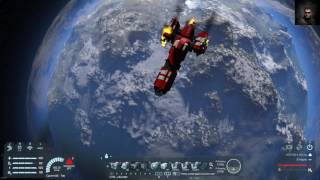 Space Engineers crash landing