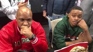 Errol Spence Jr & Coach Derrick James Scrum