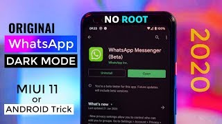 Official Whatsapp me Dark Mode Enable Kaise Kare 2020 | How to Enable Dark Mode in Original WhatsApp