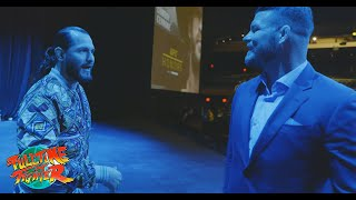 Jorge Masvidal and Michael Bisping Cross Paths Backstage
