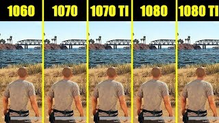 PUBG Full Release 1080 ti vs 1080 vs 1070 ti vs 1070 vs 1060 8700K Frame