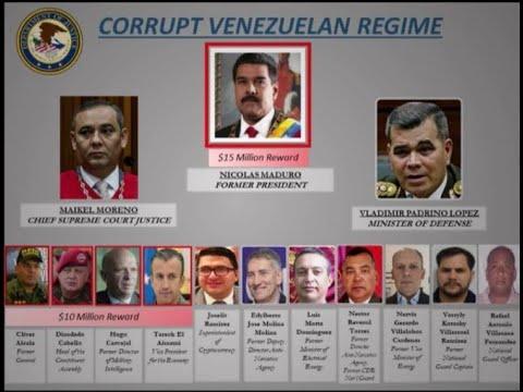 Departamento de Justicia de EEUU presenta cargos contra Maduro