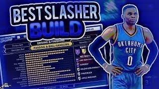 NBA 2K18 RUSSELL WESTBROOK BUILD! BEST SLASHER BUILD NBA 2K18! BEST DUNKING BUILD NBA 2K18!
