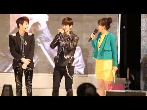 [1080P]120506 Guri Hangang Canola Festival - Baekhyun's mimicking