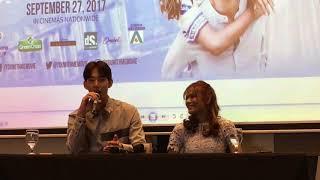 Jin Ju Hyung Teases Devon Seron At The Presscon of Their Film You With Me