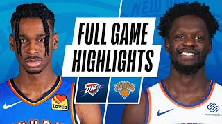 THUNDER at KNICKS | FULL GAME HIGHLIGHTS | January 8, 2021
