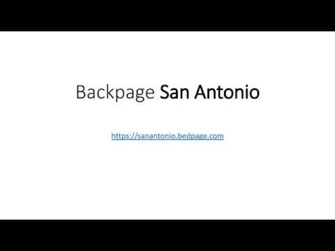 Backpage San Antonio